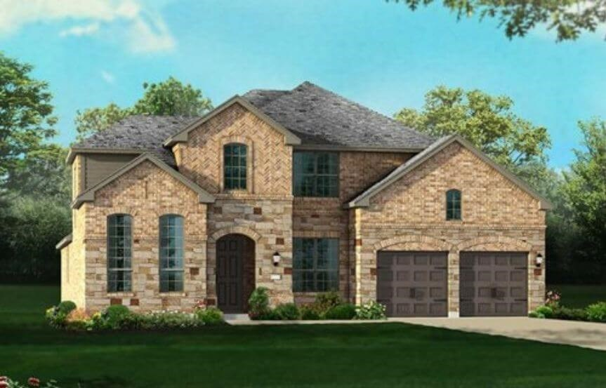 Highland Homes Plan 245 Elevation A in Hollyhock