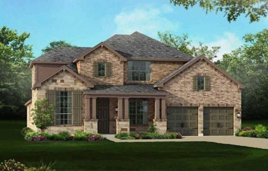Highland Homes Plan 245 Elevation C in Hollyhock