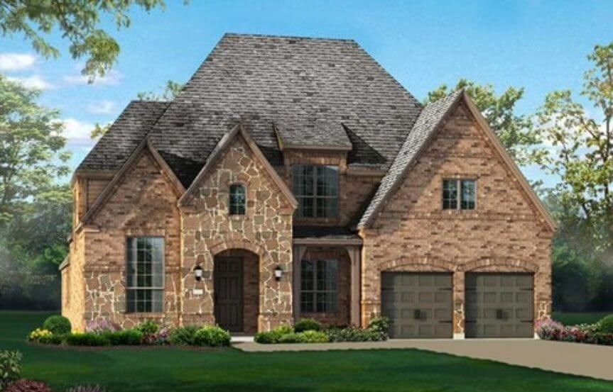 Highland Homes Plan 245 Elevation D in Hollyhock