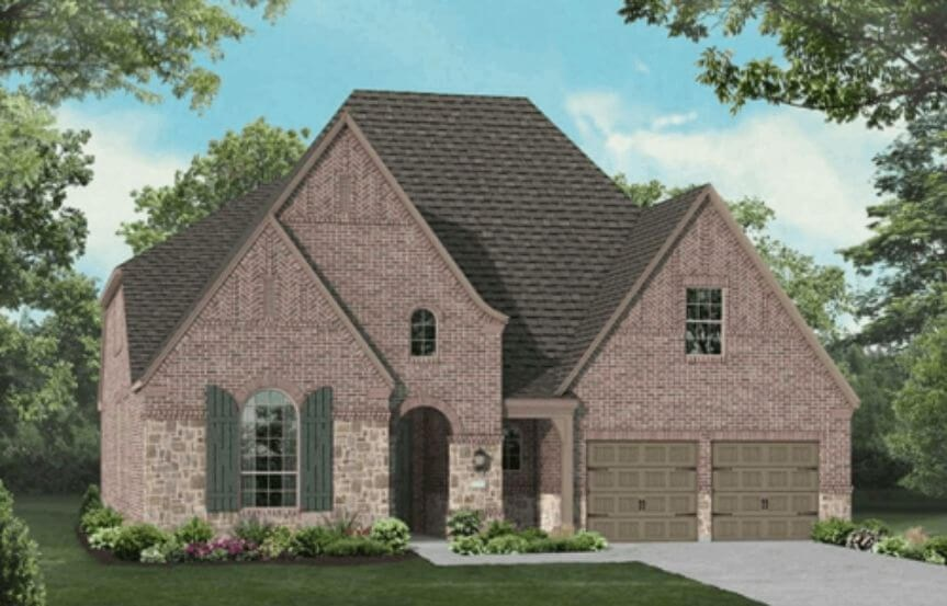 Highland Homes Plan 247 Elevation E in Hollyhock