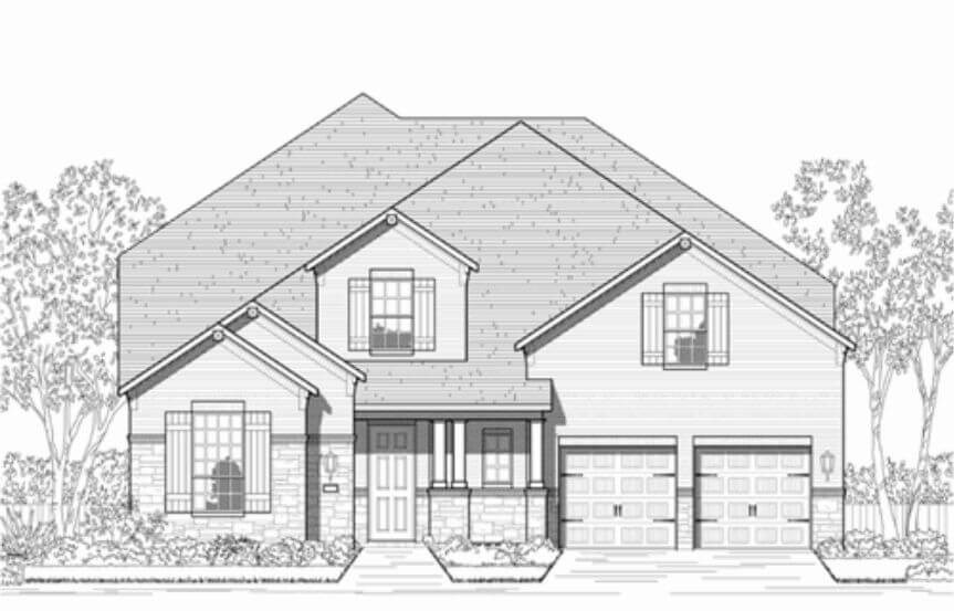 Highland Homes Plan 247 Elevation C in Hollyhock