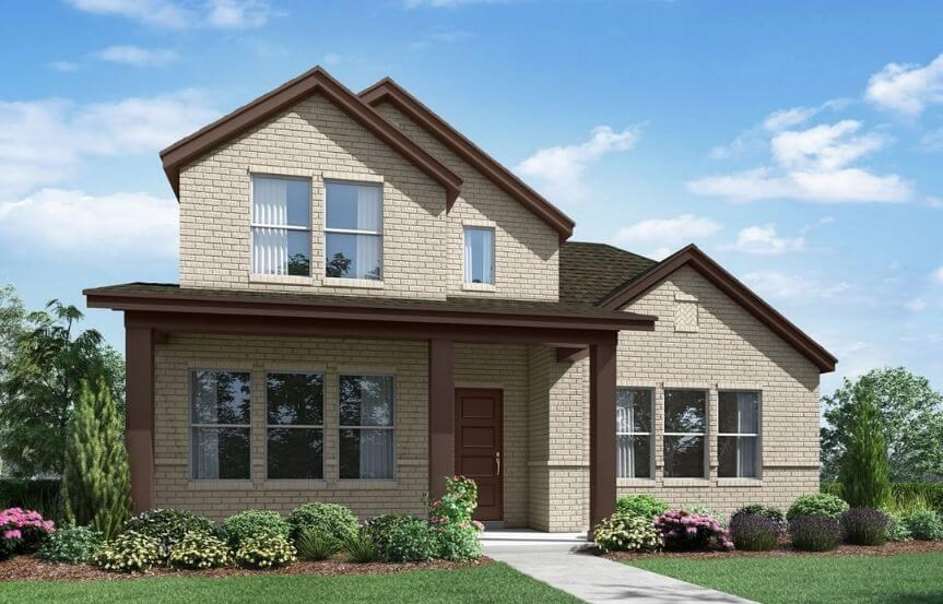 Landon Homes Plan 108 Wyndham Elevation G in Hollyhock