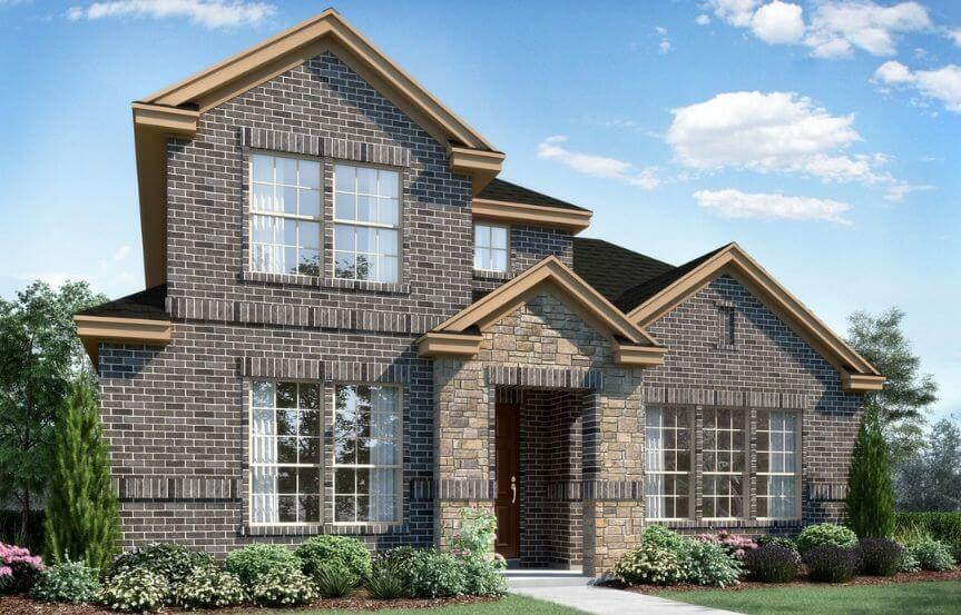 Landon Homes Plan 108 Wyndham Elevation A in Hollyhock