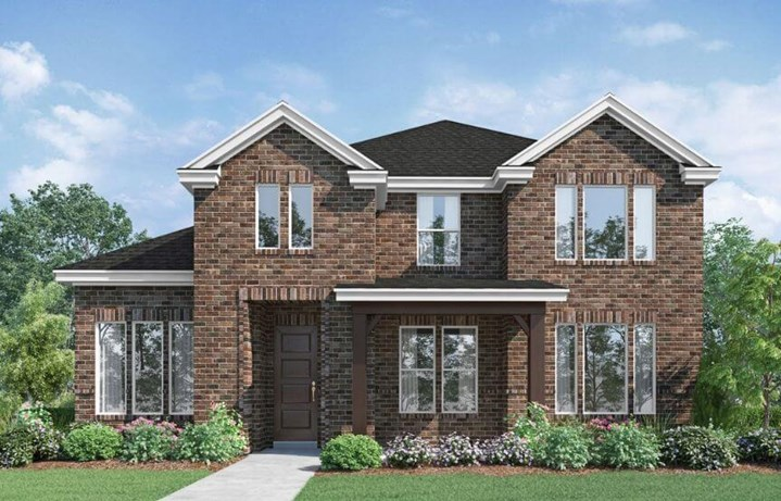 Landon Homes Plan 118 Arcadia Elevation B in Hollyhock