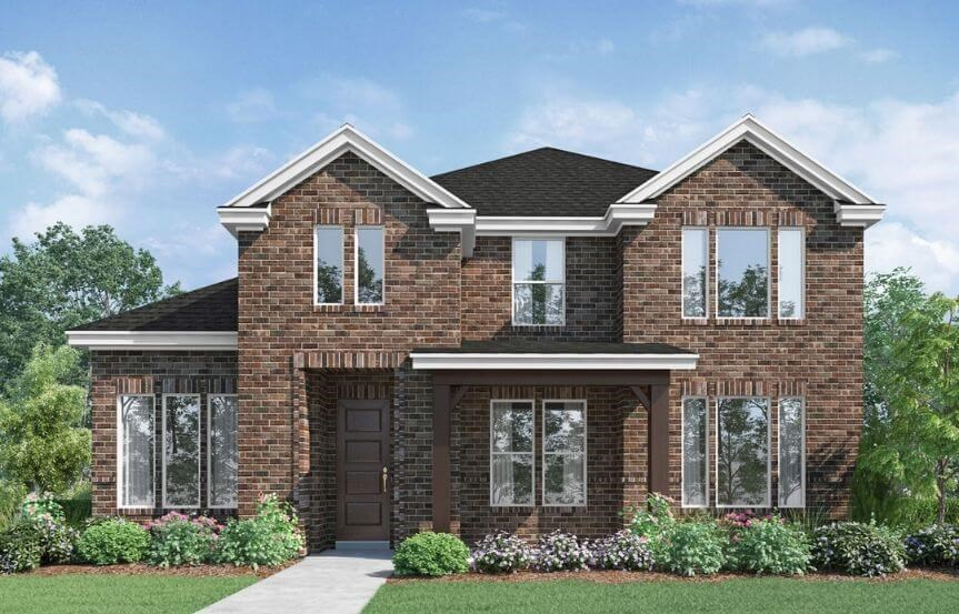 Landon Homes Plan 118 Arcadia Elevation A in Hollyhock