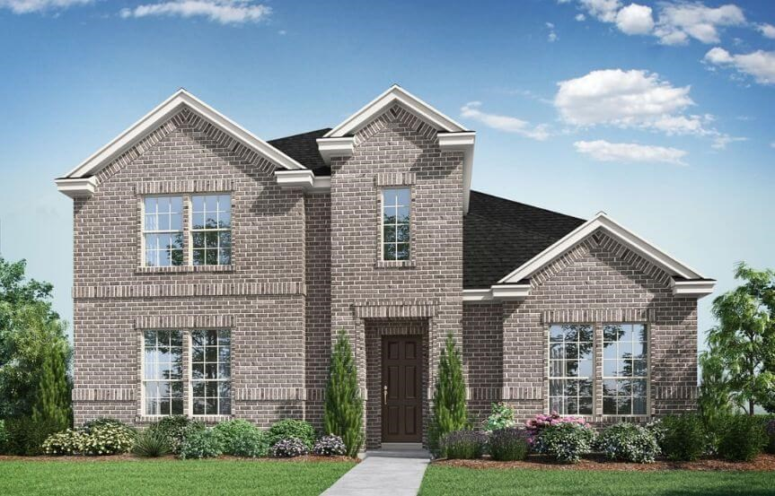 Landon Homes Plan 165 Bellagio Elevation D in Hollyhock