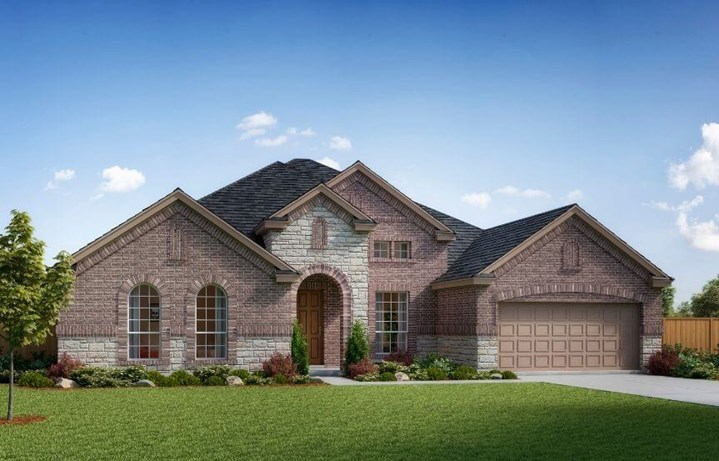 Landon Homes Plan 714 Azalea Elevation A in Hollyhock