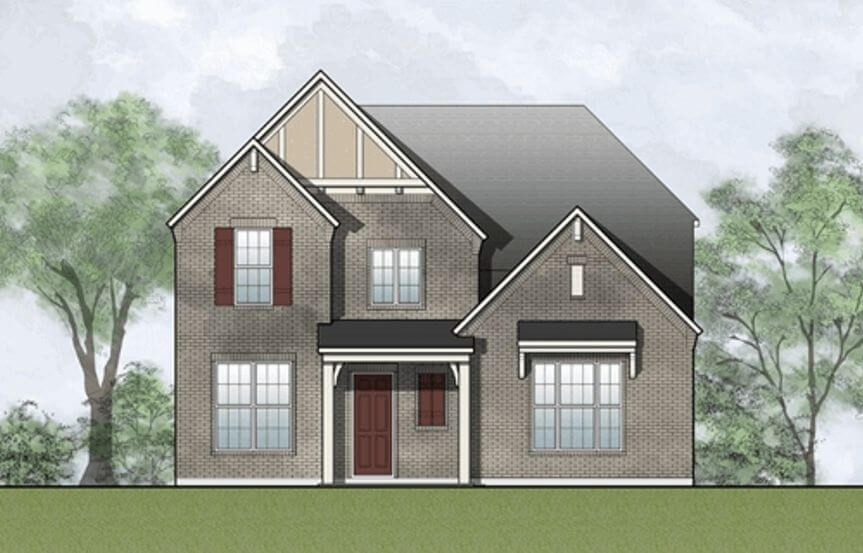 Drees Homes Plan Laramie Elevation A in Hollyhock