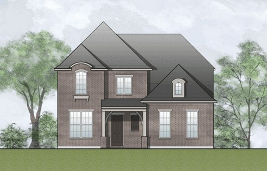 Drees Homes Plan Laramie Elevation B in Hollyhock