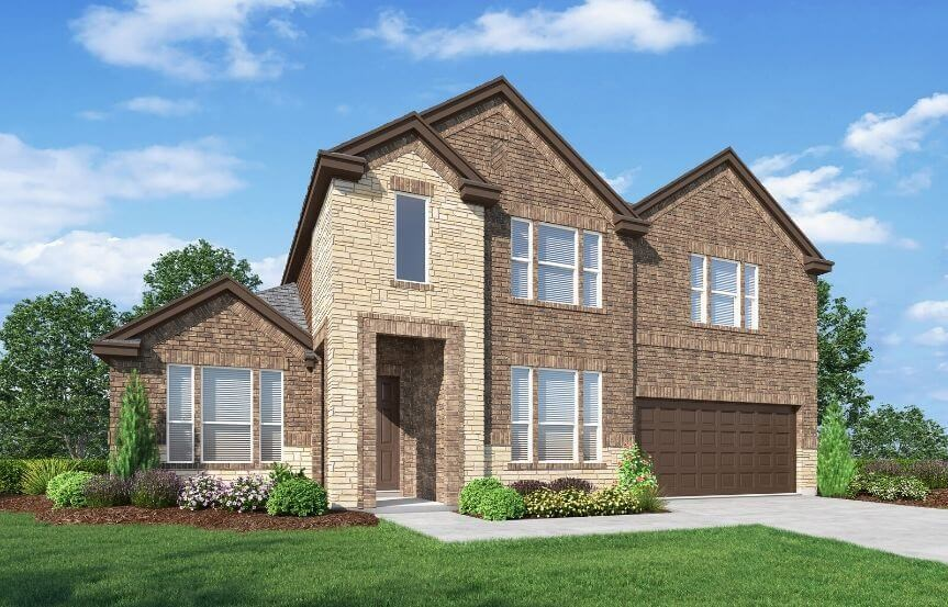 Landon Homes Plan 5810 Sienna Elevation B in Hollyhock