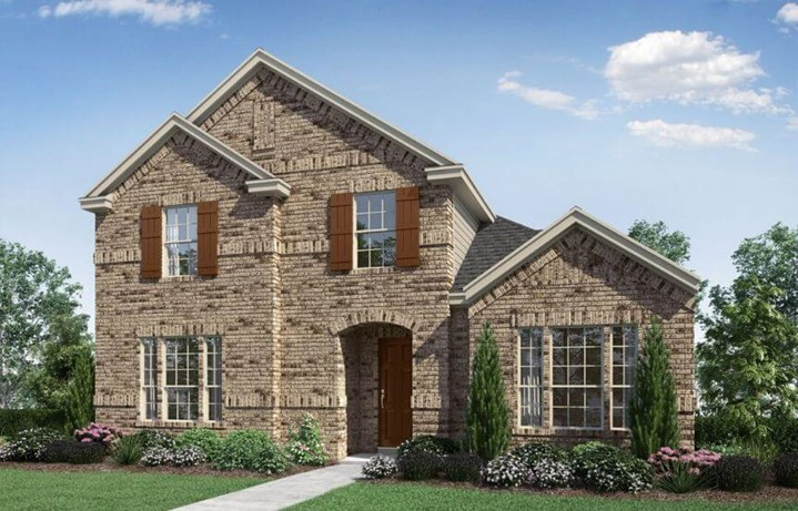 Landon Homes Plan 2164 Grove Elevation A in Hollyhock