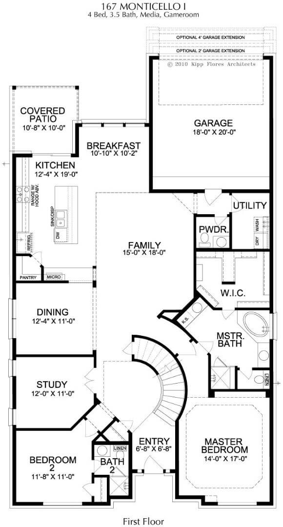 Landon Homes Plan 167 Monticello I First Floor in Hollyhock