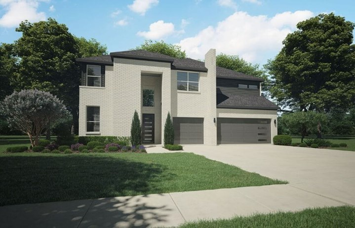 Trophy Signature Homes Plan 5075 Eliot Elevation C in Hollyhock