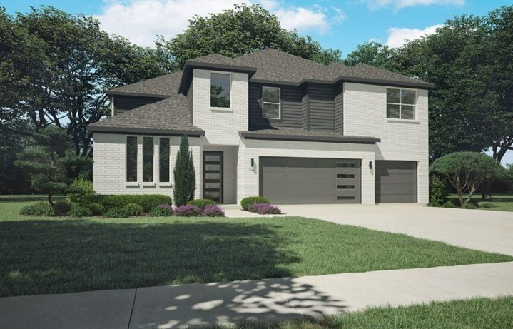 Trophy Signature Homes Plan 5085 Keats Elevation A in Hollyhock