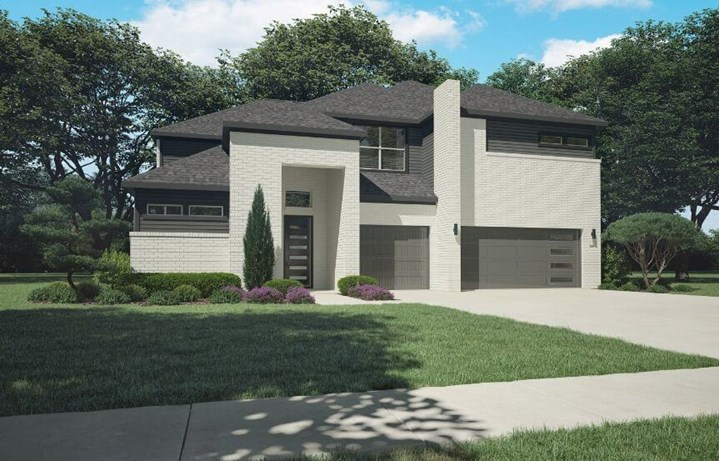 Trophy Signature Homes Plan 5085 Keats Elevation C in Hollyhock