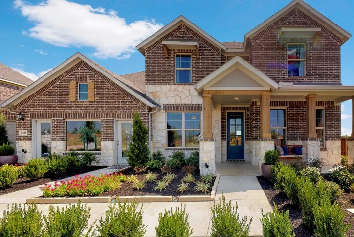 MI Homes model home at Hollyhock in Frisco, TX