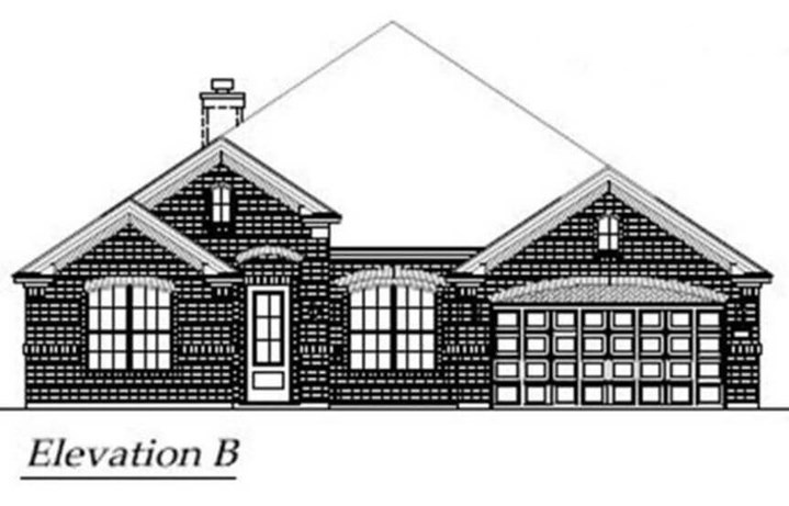 Chesmar Homes Elevation B Laurel in Hollyhock