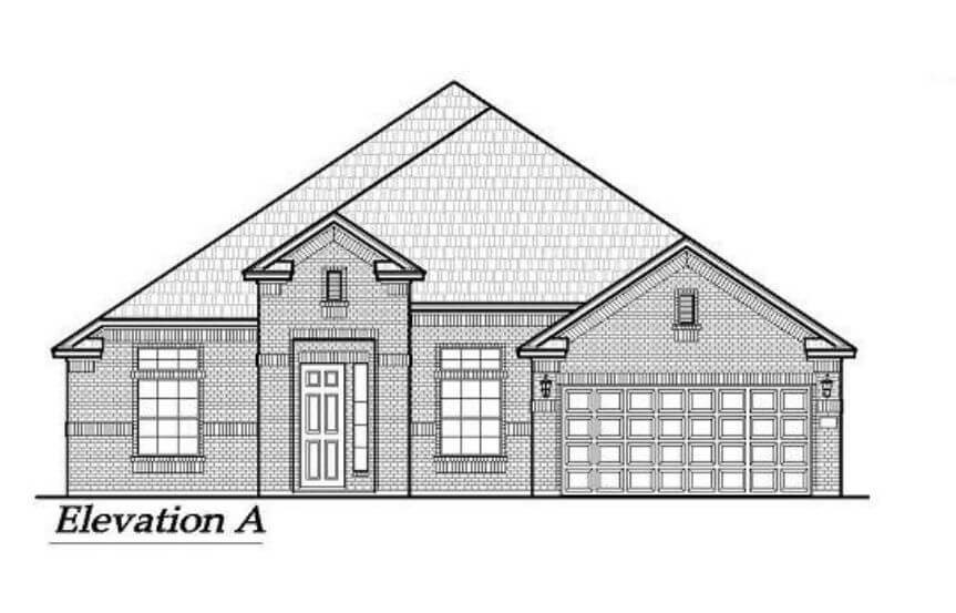 Chesmar Homes Elevation A Brookville in Hollyhock