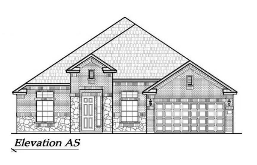 Chesmar Homes Elevation AS Brookville in Hollyhock