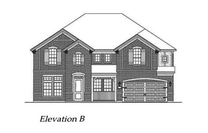 Chesmar Homes Elevation B Richmond in Hollyhock