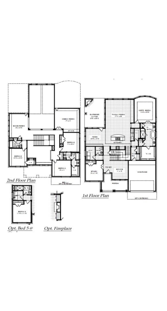 Chesmar Homes Richmond Floorplan with Options in Hollyhock