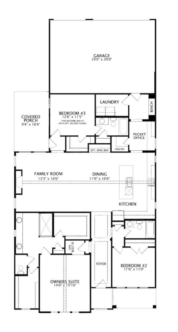 Drees Homes Plan Ridgeleigh First Floor in Hollyhock