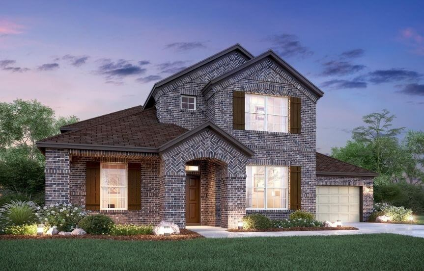Salado Elevation B M/I Homes in Hollyhock
