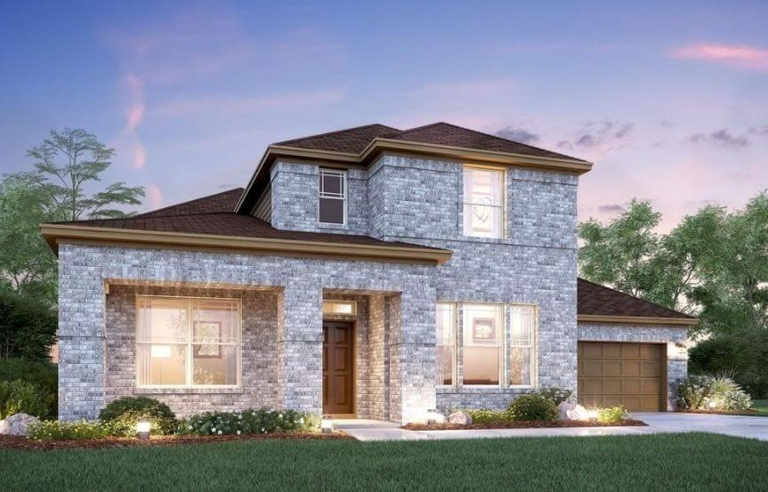 Salado Elevation C M/I Homes in Hollyhock