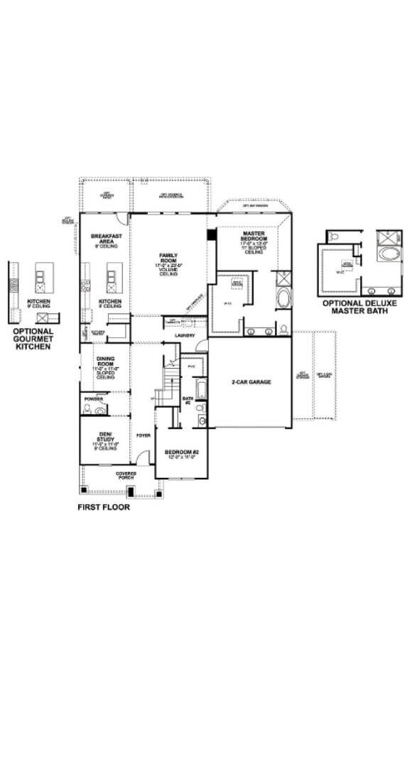 First Floor Salado M/I Homes in Hollyhock